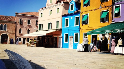View of the colorful buildings in Murano