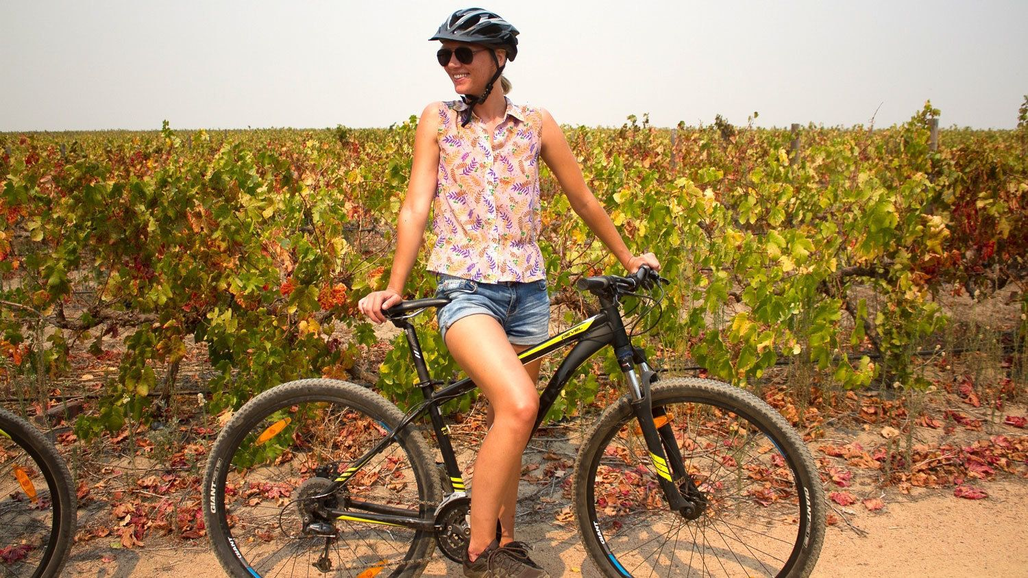 Person on a bike on the countryside