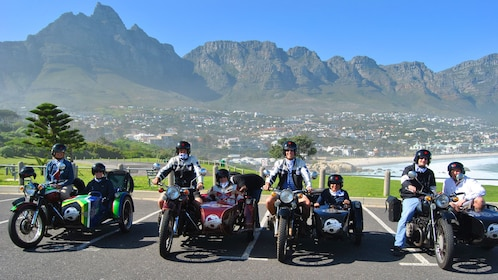 Motorcyclists and people in sidecars