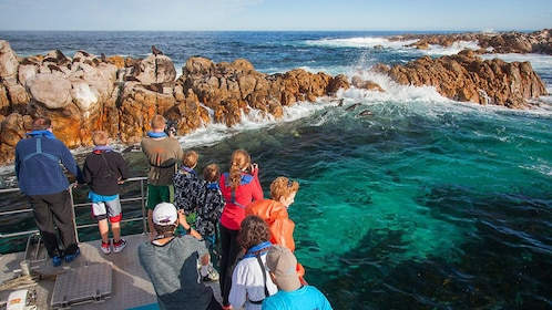 tour group in a cove in Cape Town