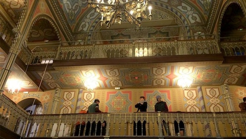 People at a synagogue in Bucharest