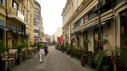 Lipscani Street in Bucharest