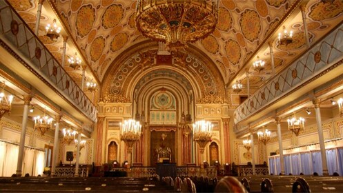 Inside a synagogue in Bucharest
