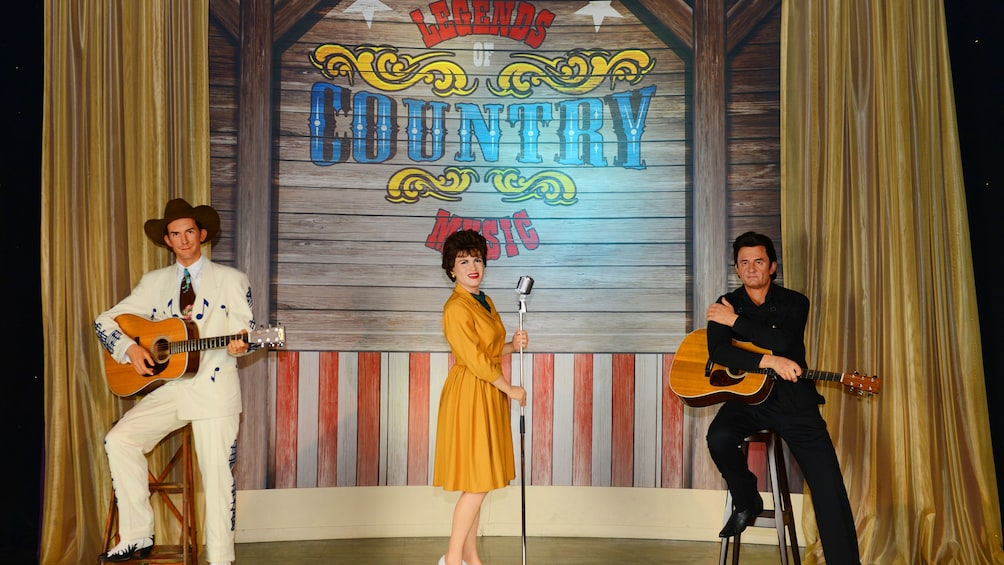 Show item 2 of 5. Wax statues of Country Legends