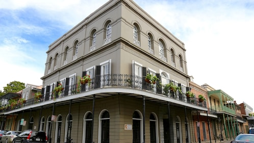 Exterior view of haunted building in New Orleans