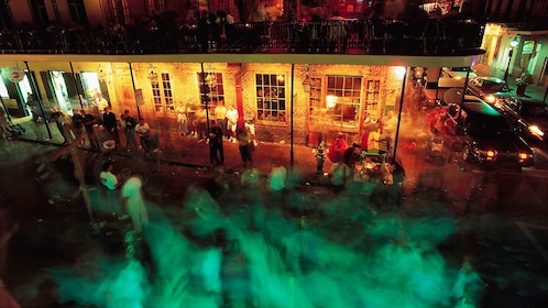 Time lapse image of Bourbon street