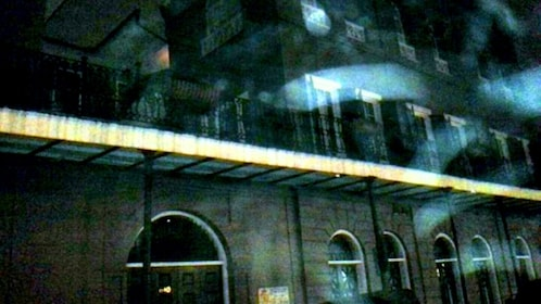Spooky image of Bourbon Street