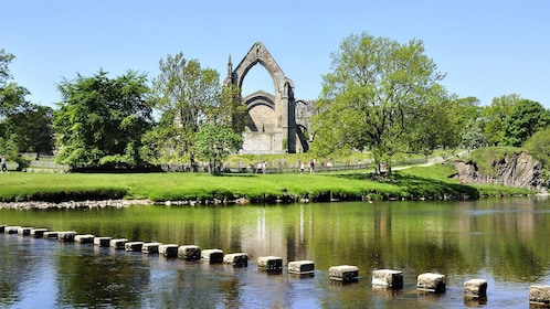 The remains of Bolton Abbey in York