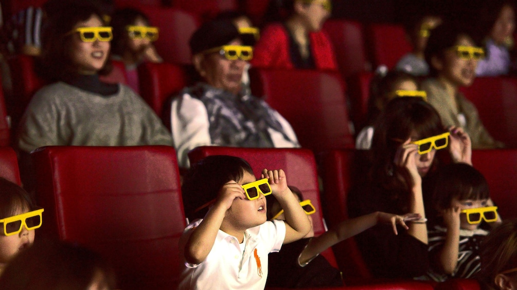 Families watching movie at Legoland Discovery Center Tokyo