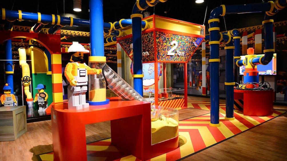 Large lego displays in Legoland in Tokyo