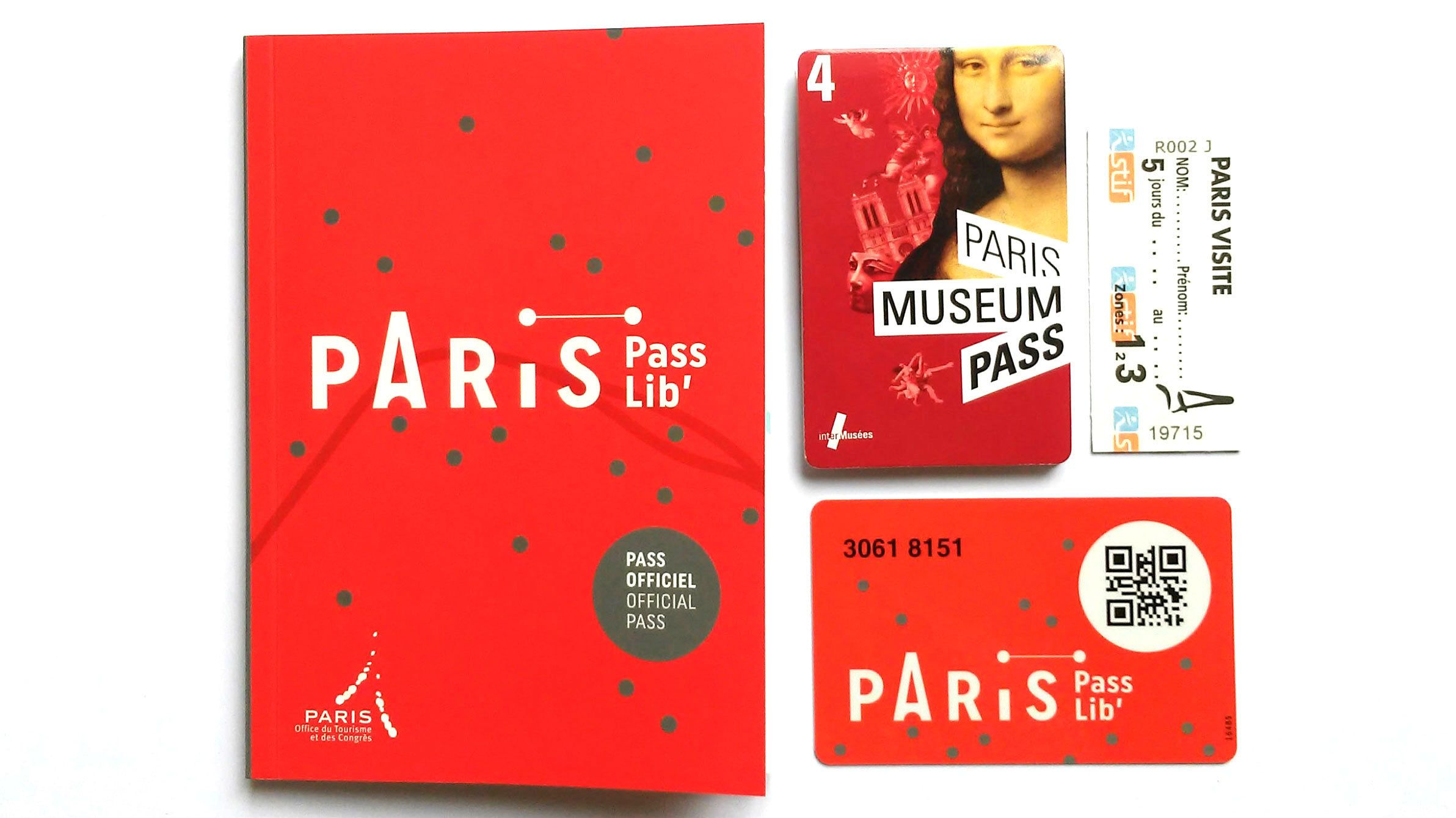 Paris Passlib' - museumkaart, vervoerspas, riviercruise en bustour