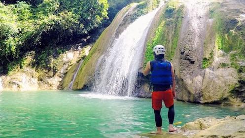 Scenic waterfall on the Extreme Danasan Adventure in Cebu, Philippines