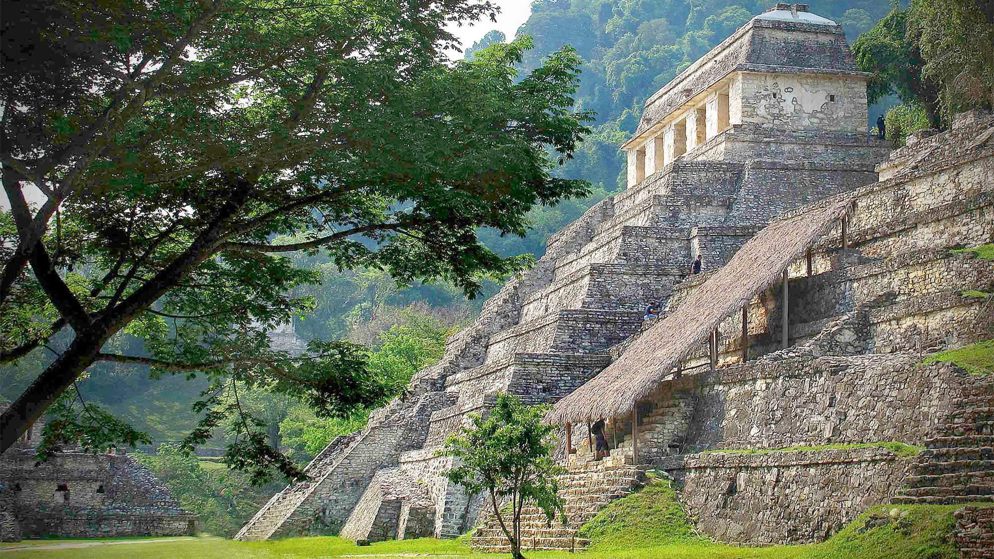 Close view of El Castillo, Chichen Itza in Mexico