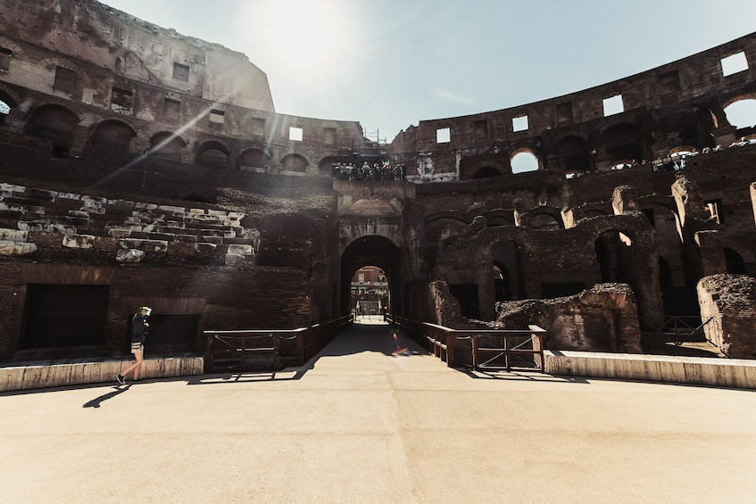Show item 2 of 10. Skip-the-line: Colosseum & Forum Tour with Special Gladiator's Gate & Arena Floor Access
