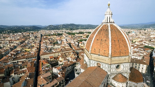 Aerial view of beautiful Florence