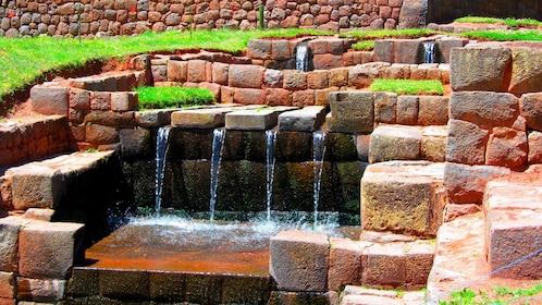 Fountain at Pikillacta ruins near Cusco