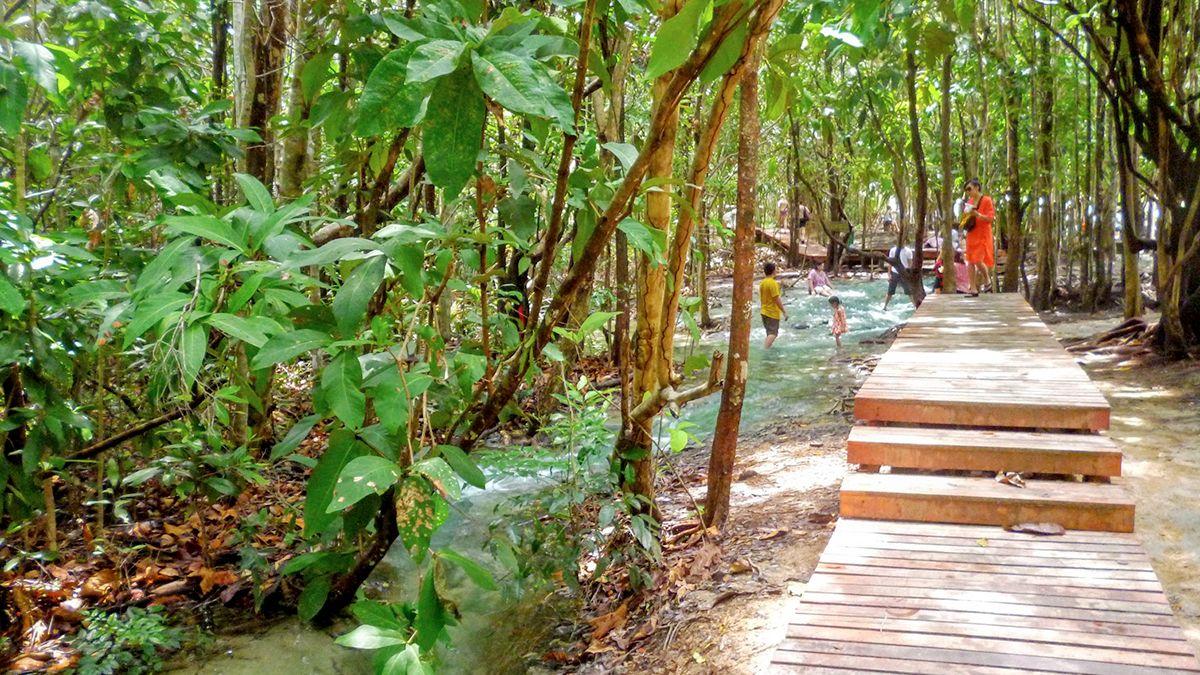 View of crystal pool in Krabi
