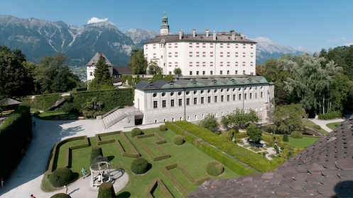 View outside Ambras Castle in Austria