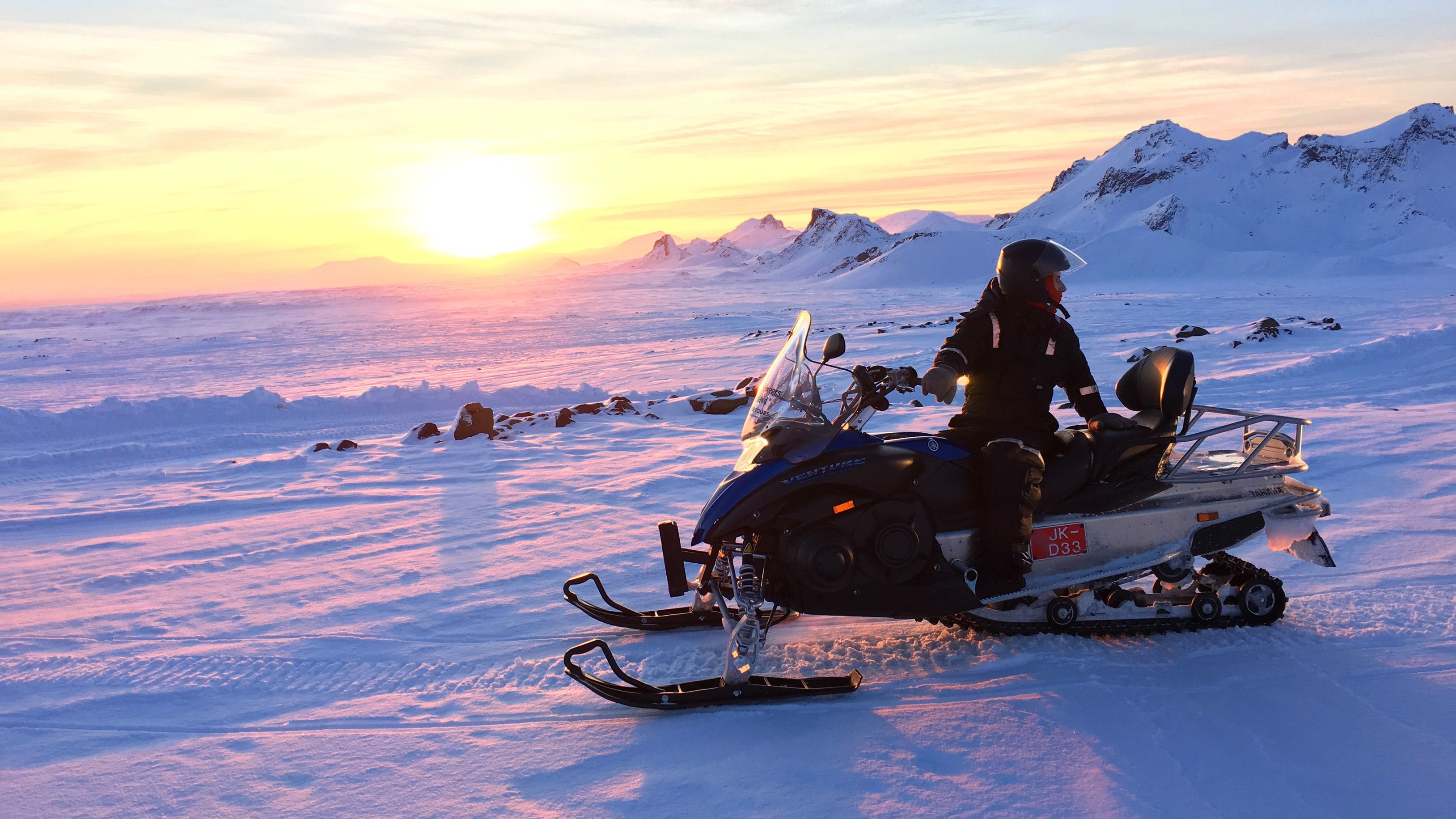 Full-Day Golden Circle & Langjökull Glacier Snowmobile Tour