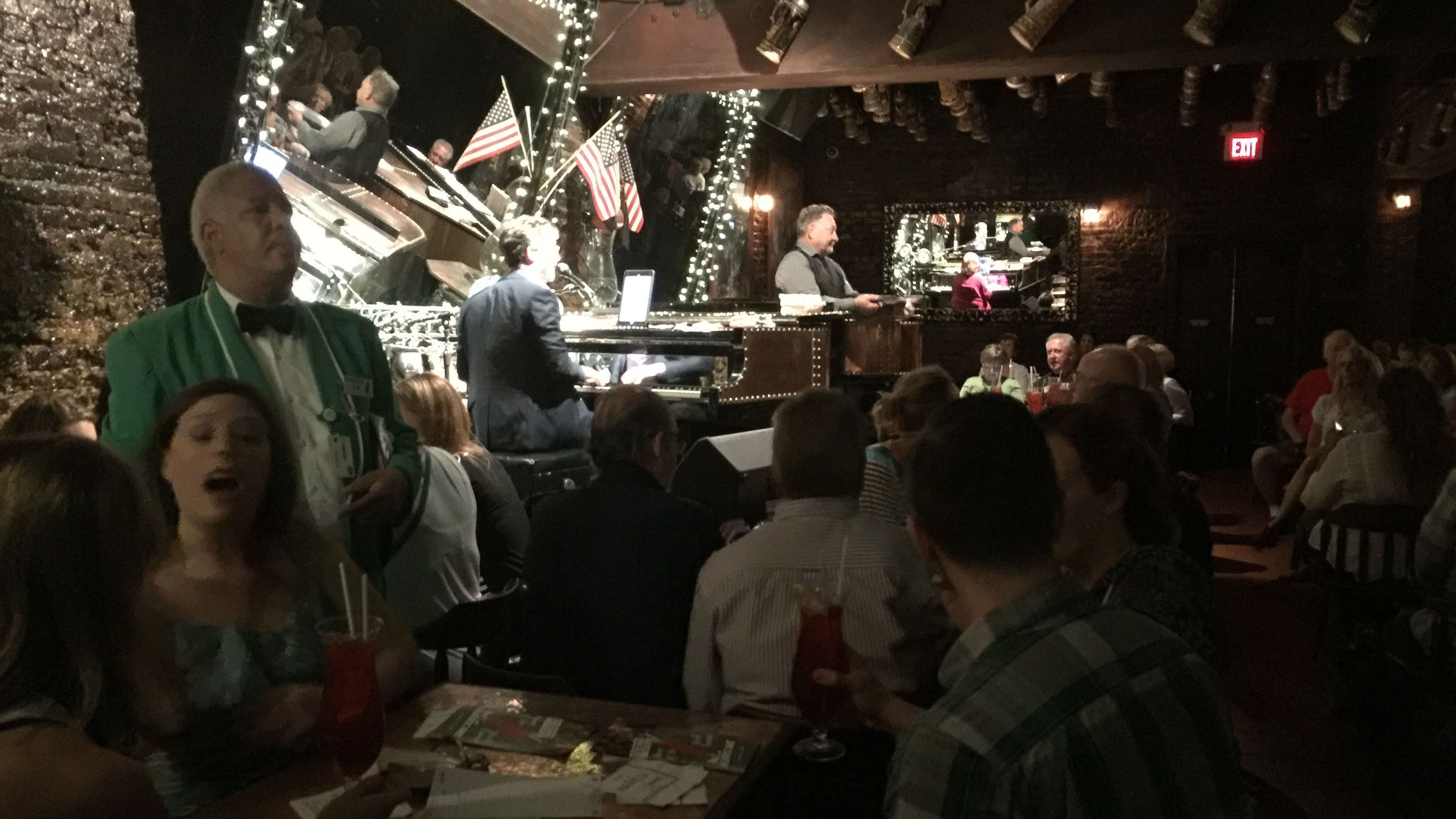Packed bar with live music performance in New Orleans