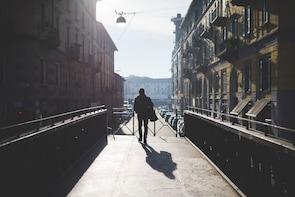 Visite pédestre privée de Milan à la nuit tombée