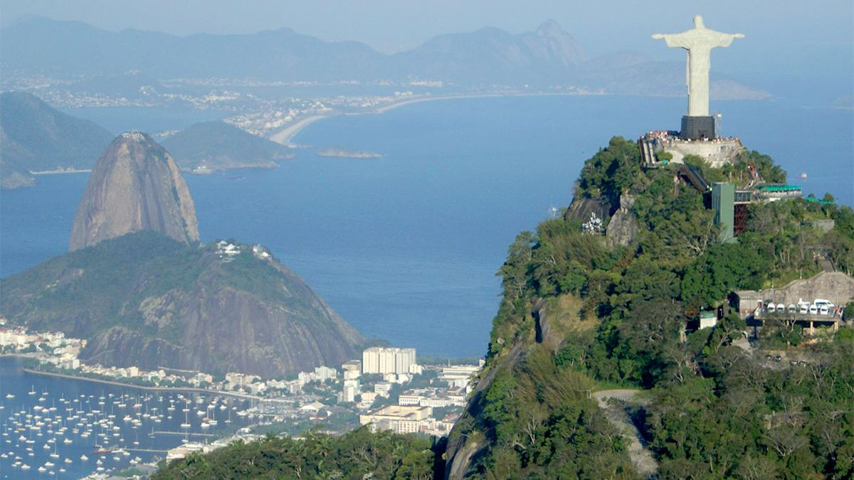 Landscape view of Christ the Redeemer