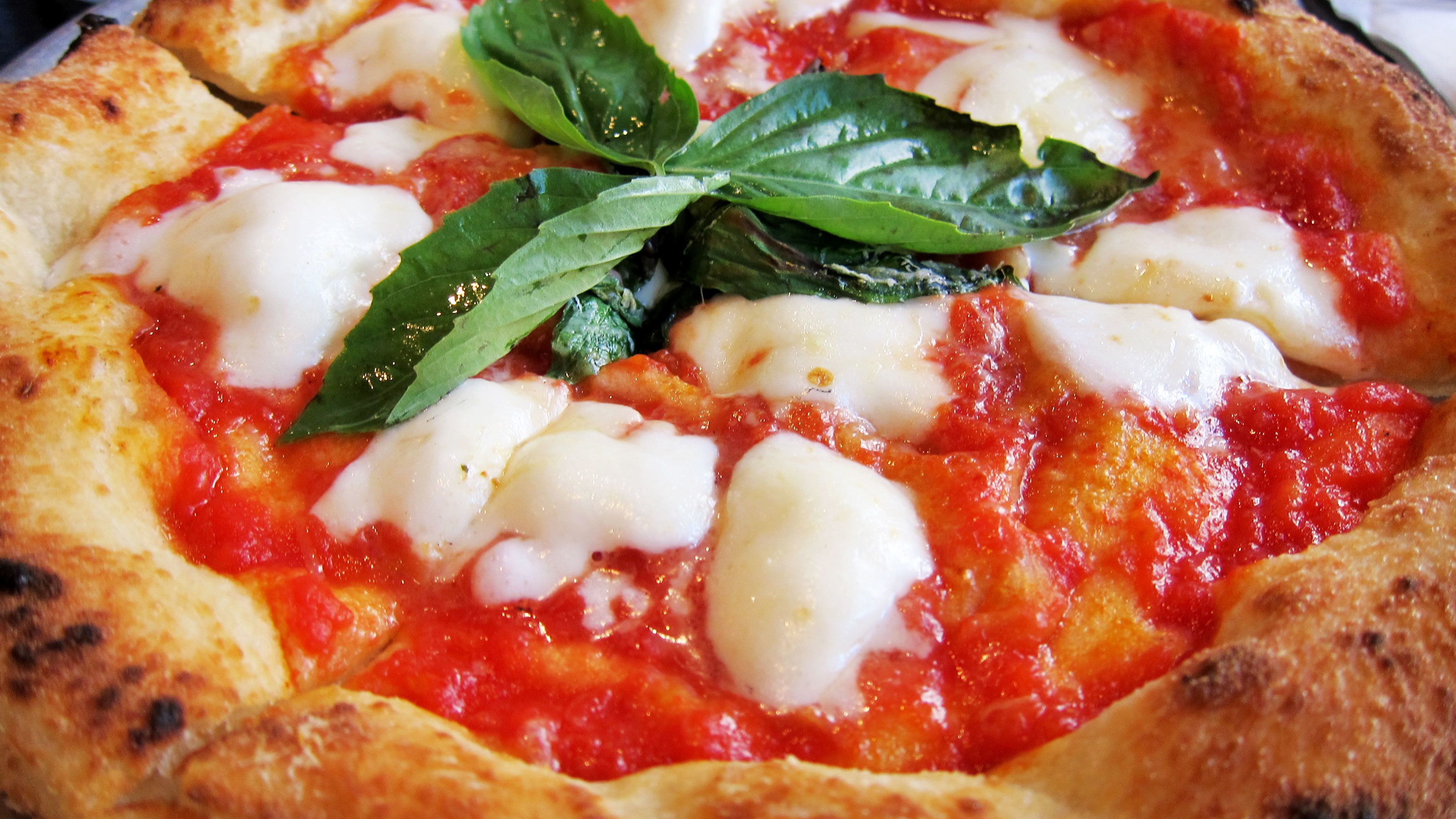 Close up of pizza in Rome