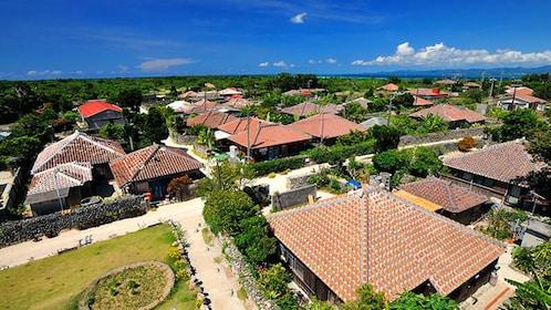 Aerial view of Okinawa housing