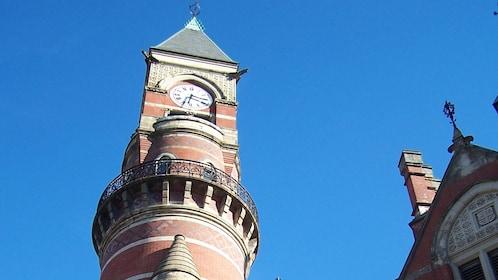 Clock tower on culture walk in Greenwich Village