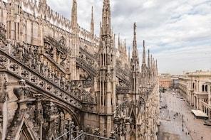 Accès direct au Duomo, la cathédrale de Milan + visite guidée du toit