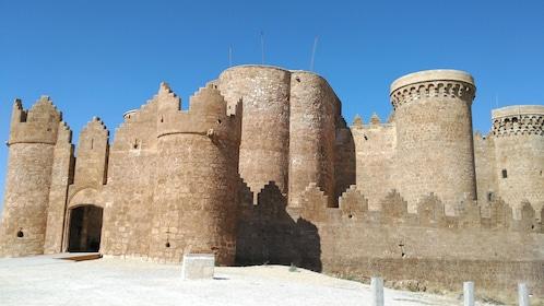 Outside the walls of Belmonte Castle in Madrid