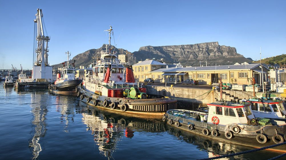 Water front of Cape Town