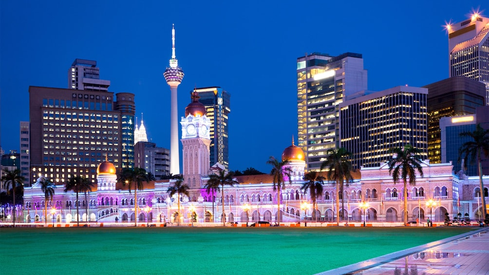 Beautiful night view of Kuala Lumpur