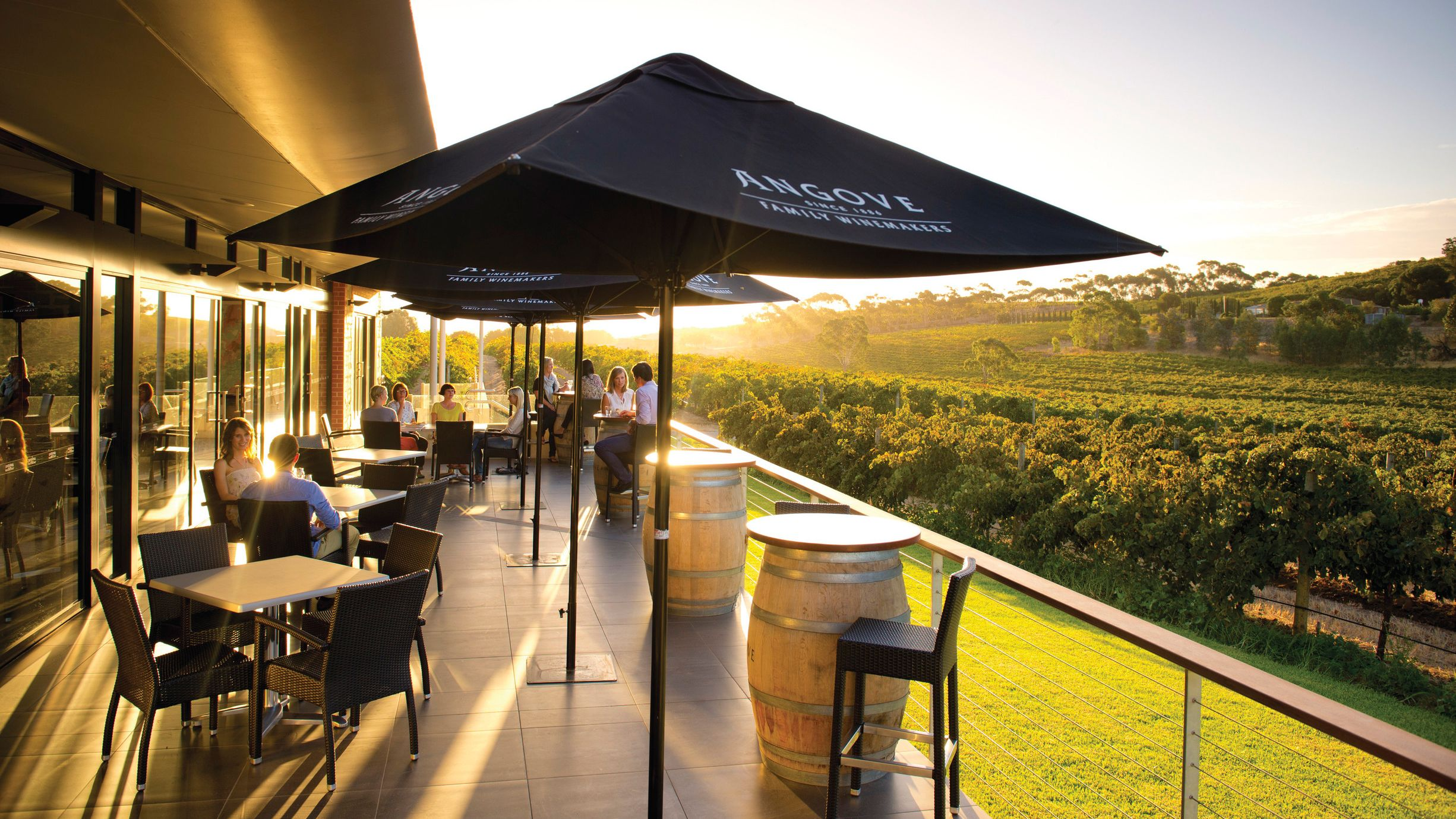 Outdoor patio of a Vineyard
