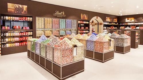 Lindt chocolates in Zurich