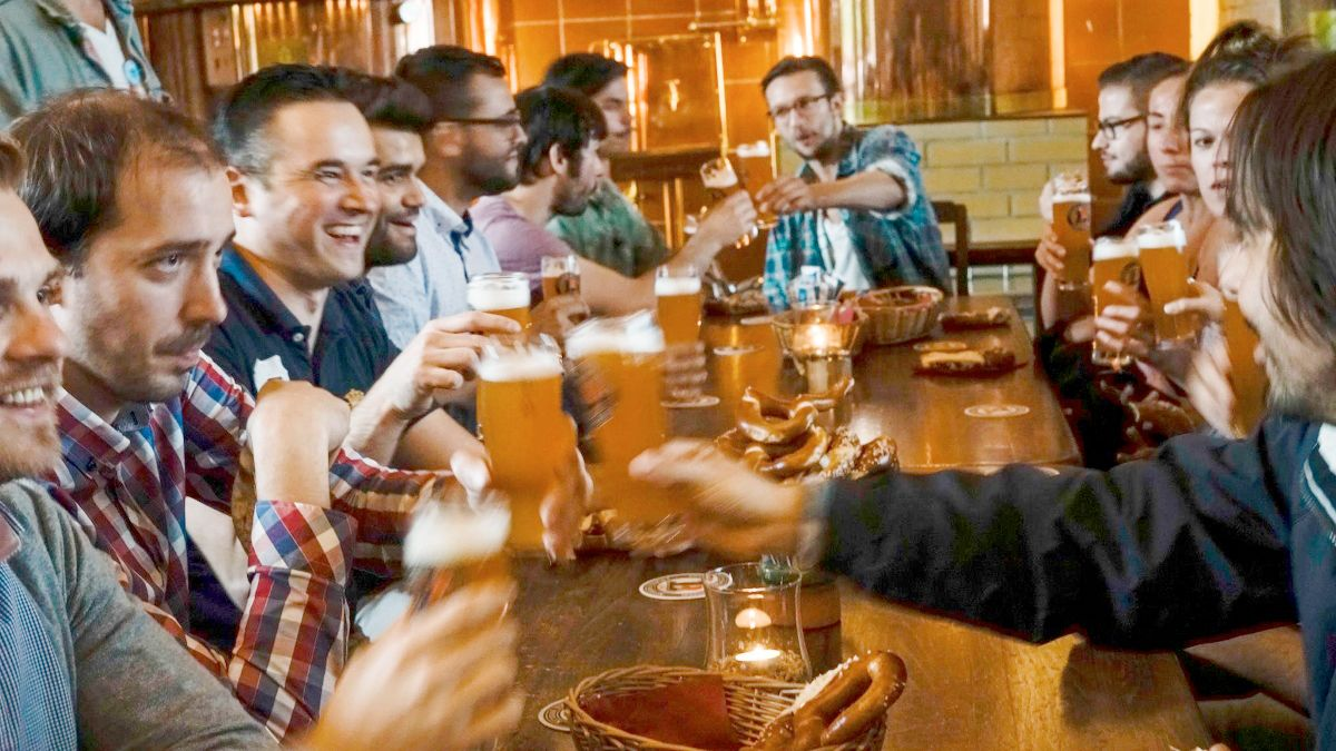 Guided Urban Beer Tour with a German Snack