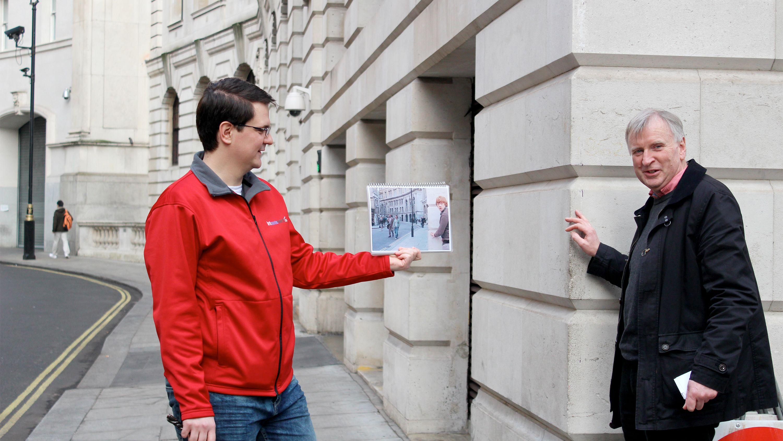 Two men on the Harry Potter London Walking Tour