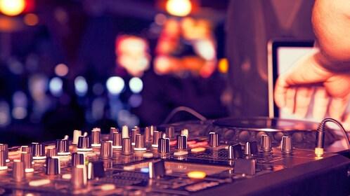 DJ station at a club