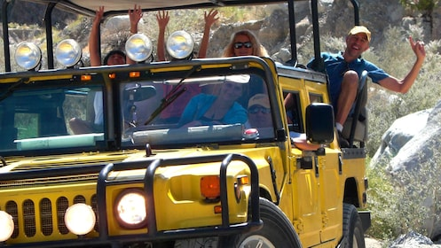 Joshua Tree National Park Hummer tour on a dirt road in Palm Springs