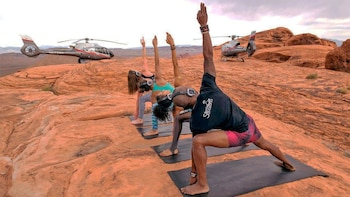 Private Helicopter Flight & Yoga Session at Valley of Fire