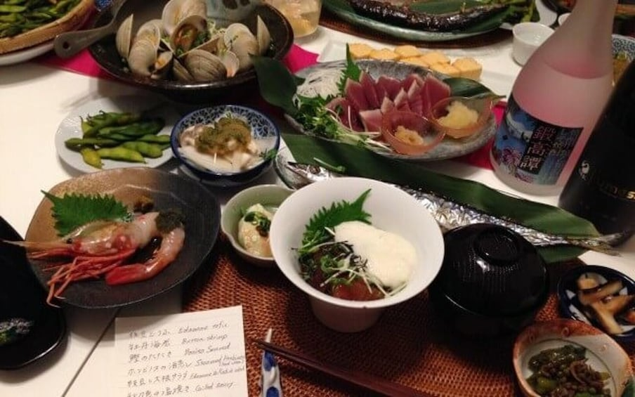 Show item 4 of 9. Small-Group Traditional Japanese Cooking Class with a Professional Cook