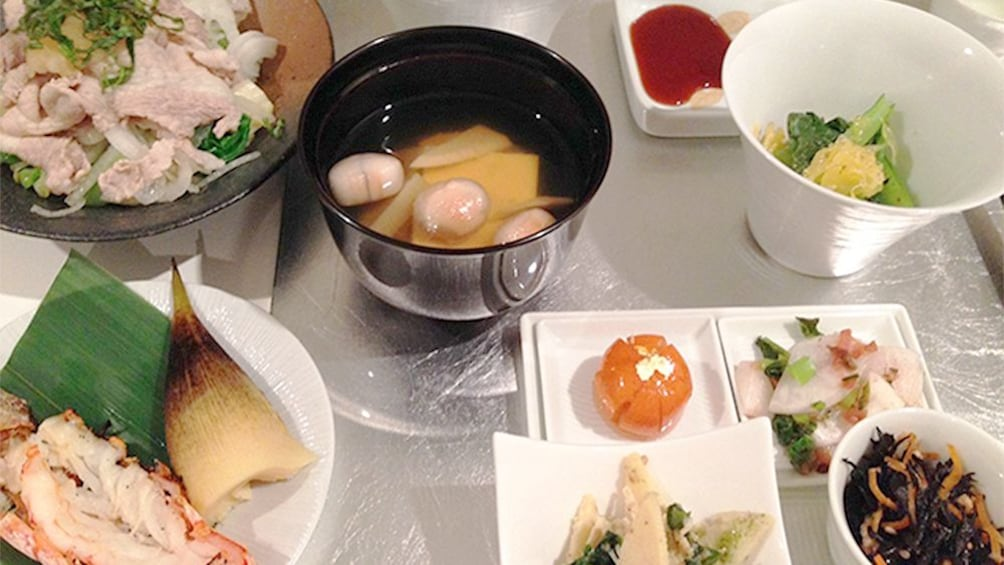Show item 3 of 9. Tokyo Traditional Japanese Food Cooking Class