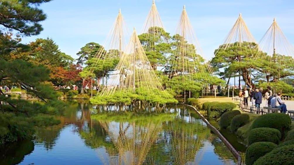 Ornate water feature in Kanazawa