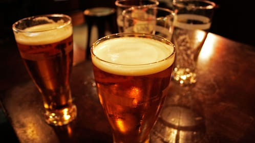 Glasses of beer in Houston