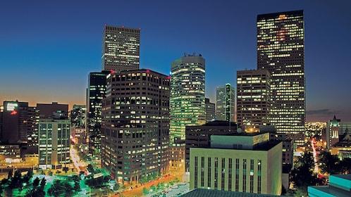 View of Houston skyline at night