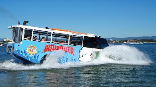 riding the Aqua Duck in Australia