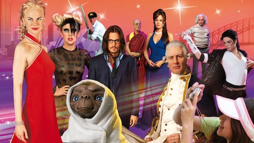 View of Madame Tussauds wax museum displays