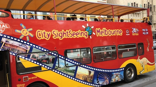 Hop-On Hop-Off sightseeing bus in Melbourne