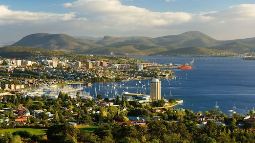 Gorgeous overhead view of Hobart