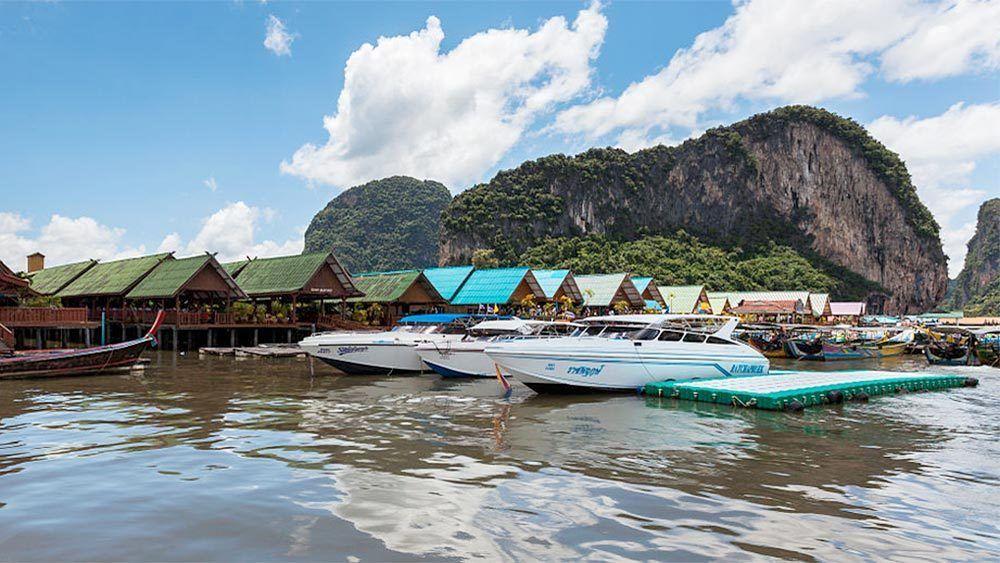 James Bond Canoe in Thailand